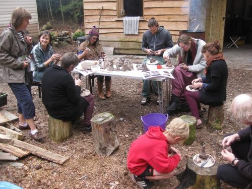 Clay goddess workshop