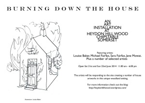 burning down the house flyer